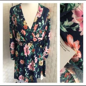 YUMI KIM Wild Rose Navy Dream Lover ROBE Sz S NWT